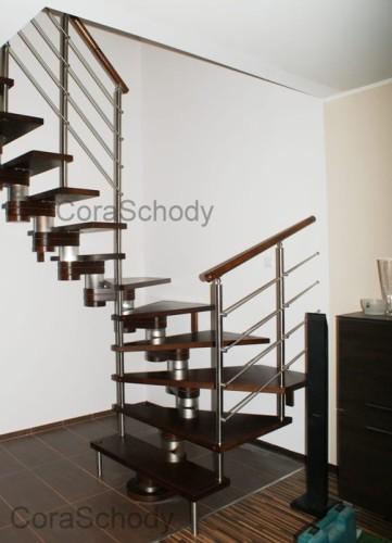Schody drewniane CORA model Moreno 200 vertical U-180 12 elementów